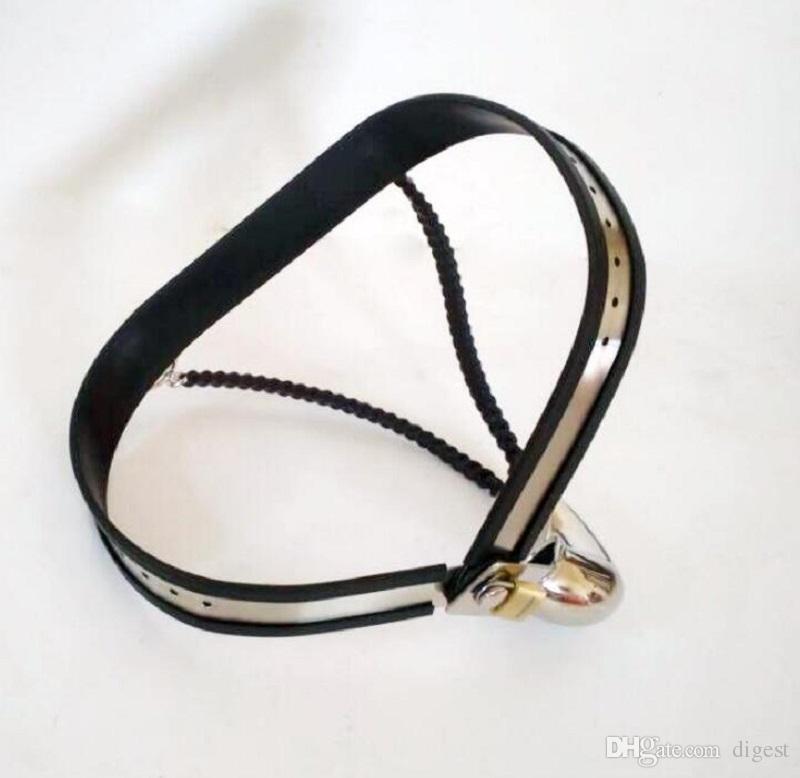Livraison gratuite nouveau mâle entièrement réglable T-type coq en acier inoxydable ceinture ceinture de chasteté dispositif BDSM sex toy