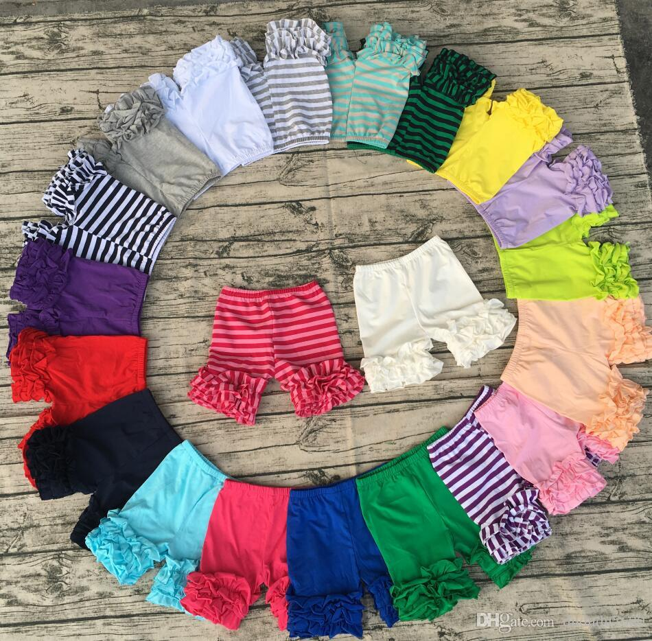 wholesale summer girl solid color super soft cotton icing shorts baby high quality clothes