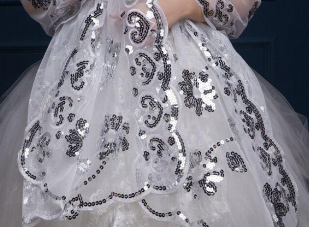 Shinning estilo de lentejuelas encaje chal de la novia del banquete de boda de la bufanda de las mujeres envuelve envoltura del Poncho floral 10 unids / lote # 1578