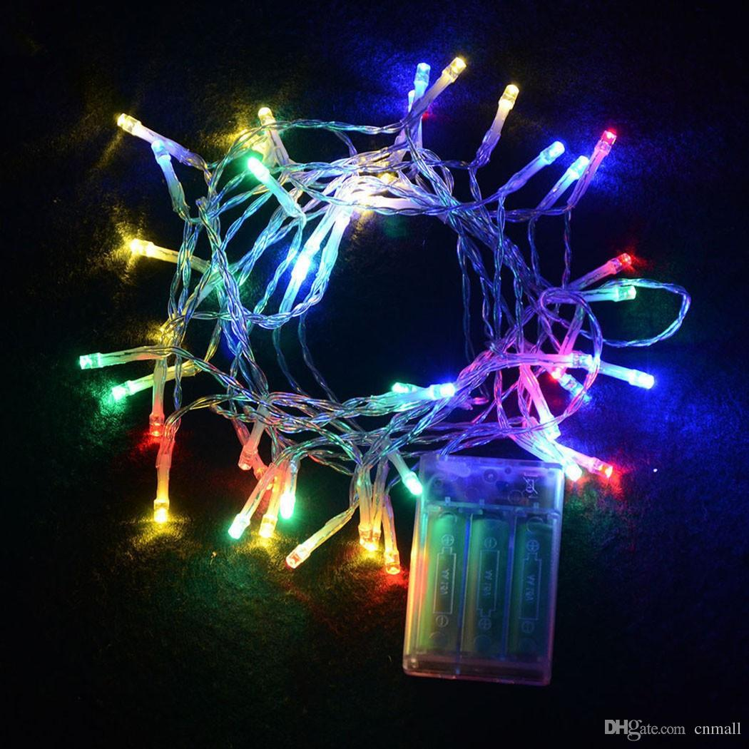 Outdoor Indoor Festival String Lights 2M 20 LED Colorful LED String ...