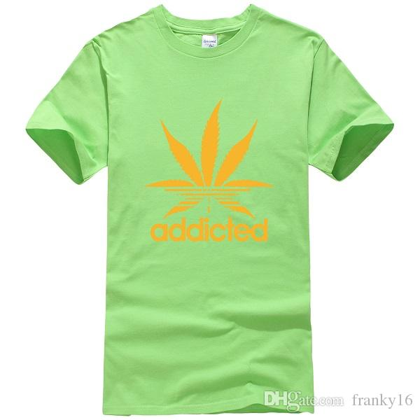 802e423a3 Wholesale Addicted Letter Printed Maple Leaf Casual O Neck Women Cotton T  Shirt Girls Short Sleeve Tops Loose T Shirt The T Shirt T Shirts Designer  From ...