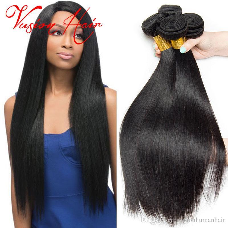 Kinky Straight Weave Bulk Hair Extensions 3 Bundles Indian Hair