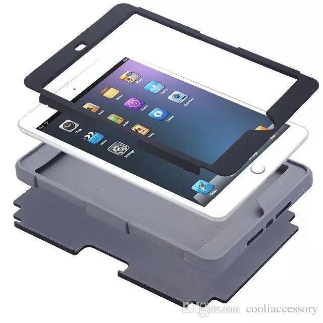 Rüstung Hybrid Hart PC Weiche Slicone GEL Fall Für Ipad Mini 1 2 3 4 Mini4 tablet Ballistic Stoßfest Kunststoff Defender Haut Abdeckung luxus 20 stücke