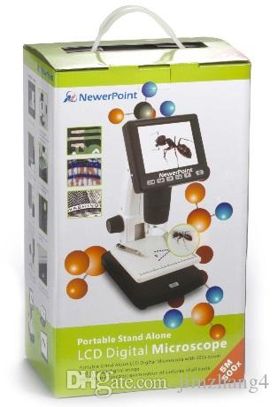 "UM038-3, HOT SELL 3.5"" LCD 8 LED True 5M Pixels 20-500x Digital Microscope with VGA OUTPUT Support MicroSD Card"