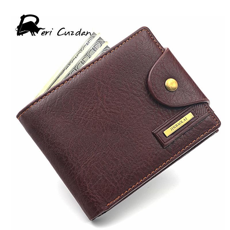 6e6589ae5e66 Wholesale- DERI CUZDAN Famous European Leather Genuine Men Wallet Zipper  Coin Pocket Short Vintage Men's Wallet Portfolio Male Clutch Purse