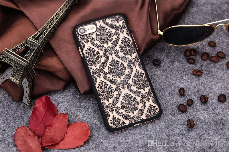 New Arrival for iphone 7 S7 cases ! Phone Case for iPhone 5 5S 6 6S 6Plus 7 Plus Damask Vintage Flower Pattern Luxury Back Cover Cases