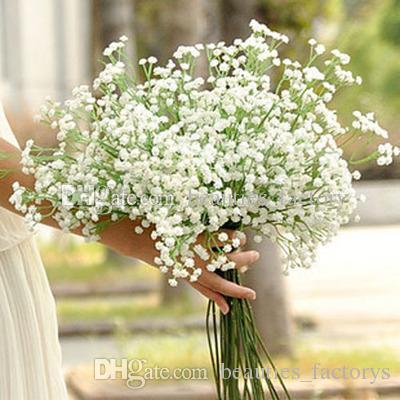 Grosshandel 20 Stucke Kunstliche Gypsophila Weisse Blume 6 Zweige