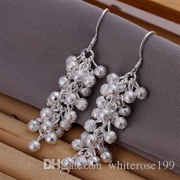 도매 - 최저 가격 크리스마스 선물 925 스털링 실버 패션 귀걸이 E07
