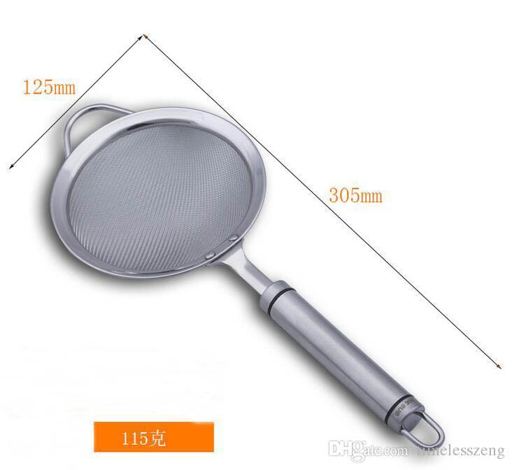 Colador de cocina de malla fina Colador de cocina de acero inoxidable Diámetro 12 cm Colador de jugo de fruta Pantalla de filtro de leche de soja