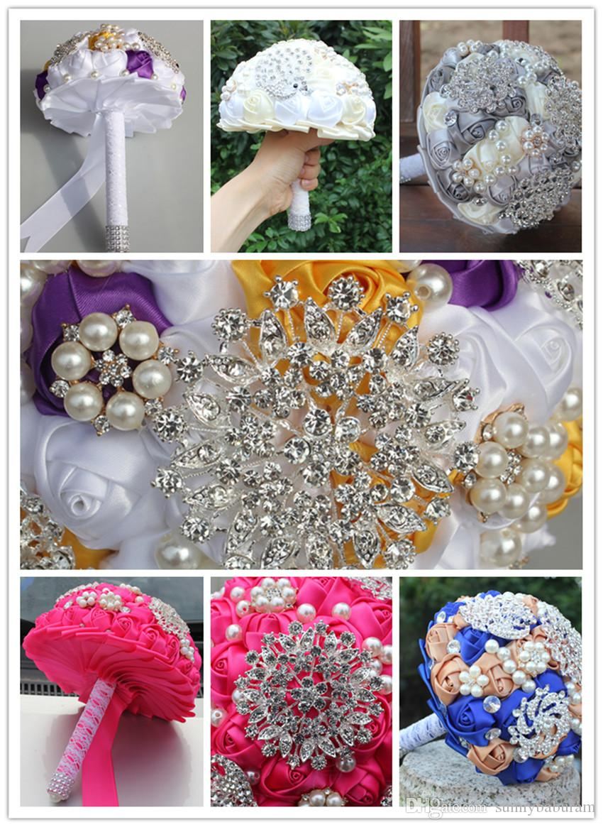 Satin Wedding Bridal Bouquets Wedding Supplies Artificial Flower