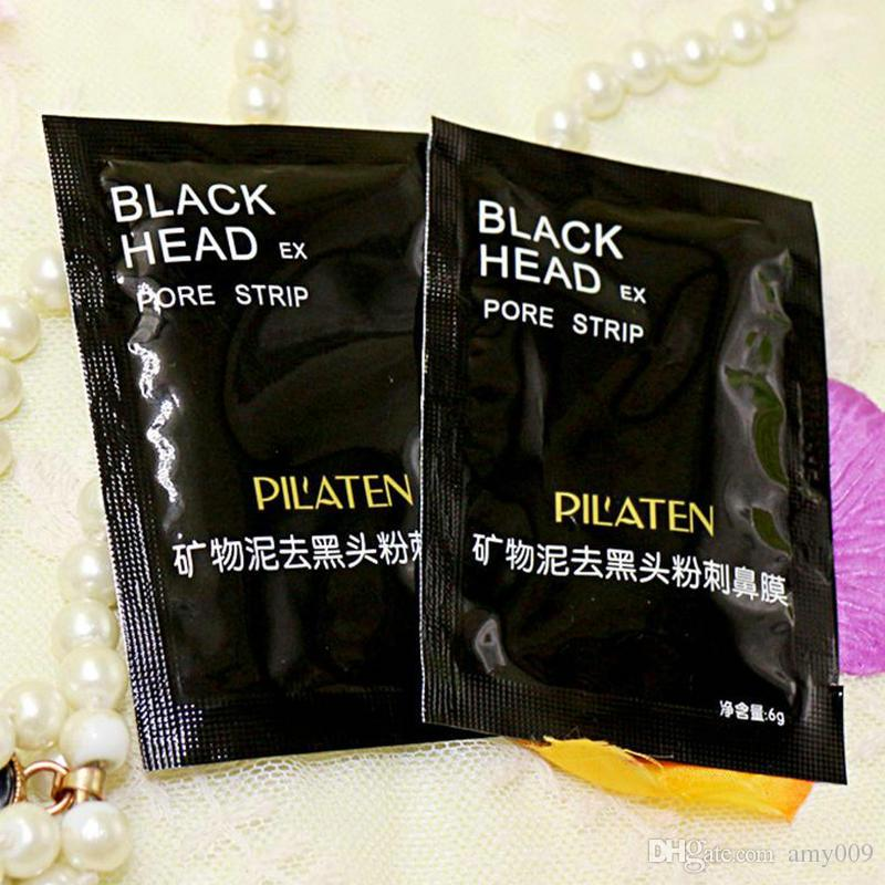 hot PILATEN Facial Minerals Conk Nose Blackhead Remover Mask Facial Mask Nose Blackhead Cleaner 6g/pcsacial Mask Remove Black Head
