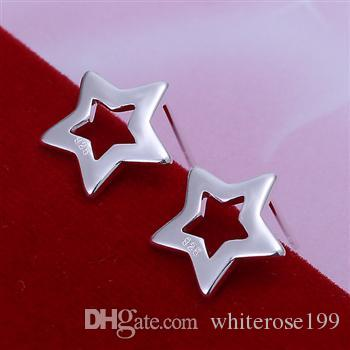 도매 - 최저 가격 크리스마스 선물 925 스털링 실버 패션 귀걸이 E109