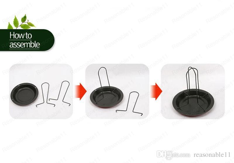 Casseroles pour assiettes de poulet rôti Rôtir le barbecue en plein air Camping Fourche Grill BBQ Stable Stable avec boîte de détail