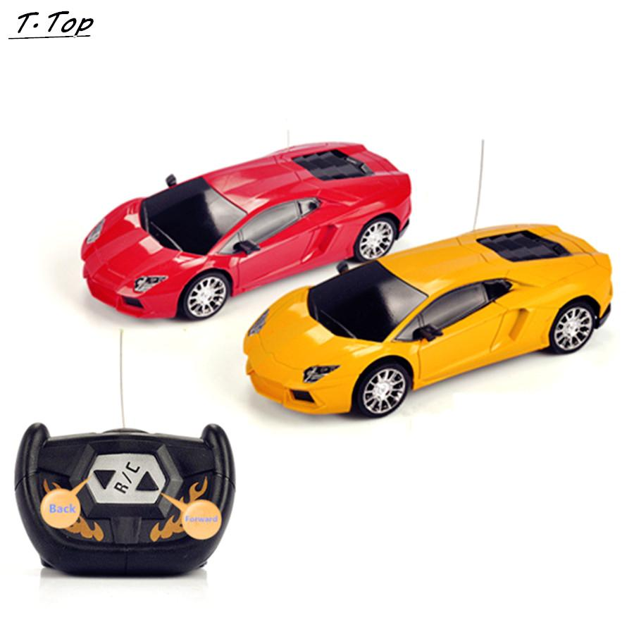 wholesale stock 124 2ch colored speed remote control racing car vehicles toy gift without battery for kids children radio remote control cars good remote