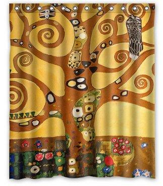 2019 Ustom Gustav Klimt Classic Golden Style Shower Curtain 66 X 72 Inches High Quality Waterproof Bath From Dhkey2014 3517