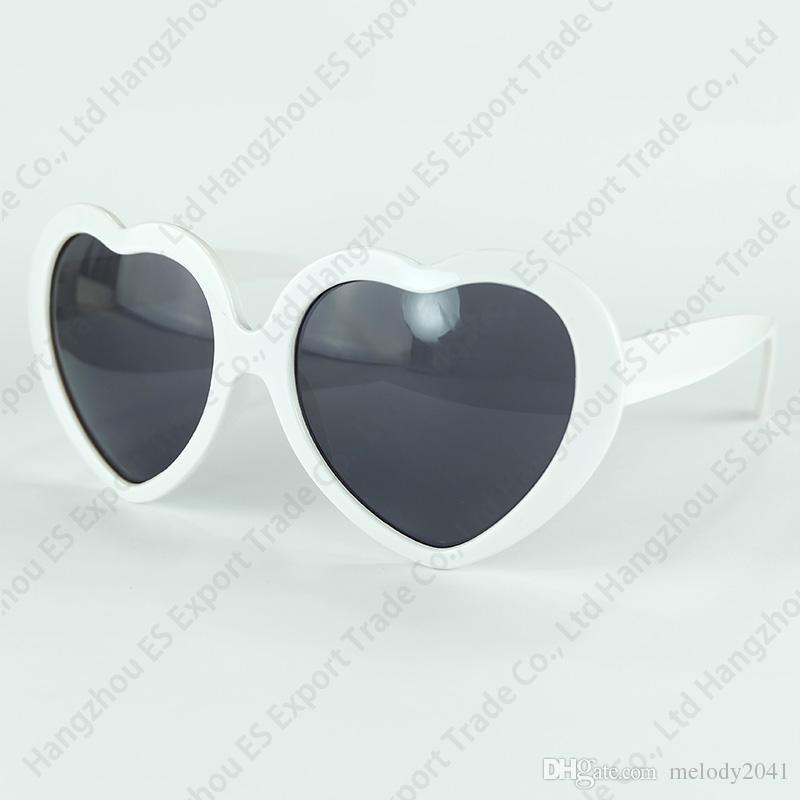 DHL Schiff 13 Farben Mode Frauen Mädchen Sommer Herzform Lolita Sonnenbrille Party Strand Sonnenschein Schatten Liebe Eyewear UV400