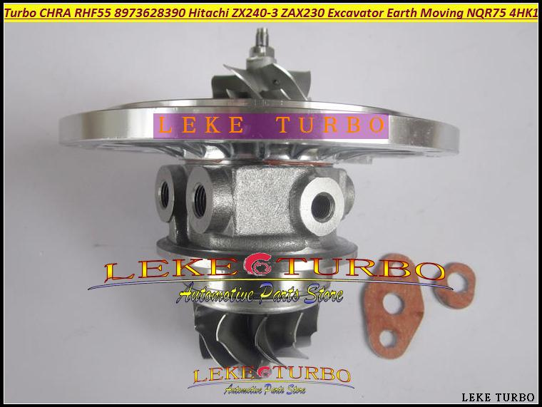 RHF55 8973628390 turbo Cartridge CHRA for Hitachi ZX240-3 ZAX240-3 ZAX230 Excavator ISUZU Earth Moving NQR75 4HK1 Turbocharger (2)