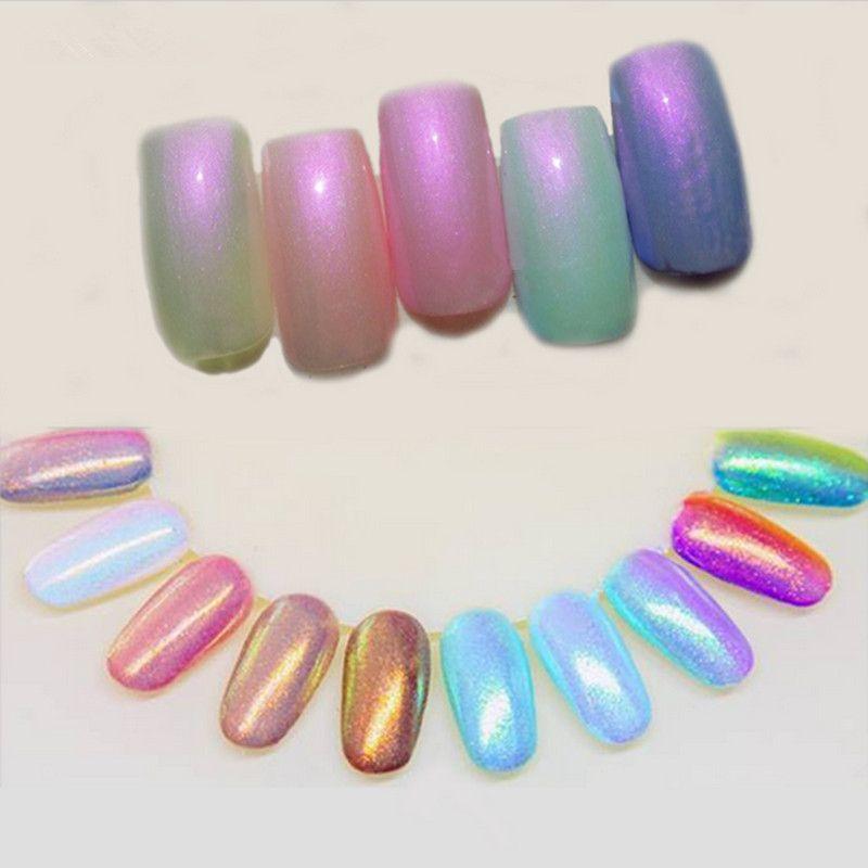 1 Box 3g Mermaid Nail Glitter Powder Pretty Gradient Shimmer
