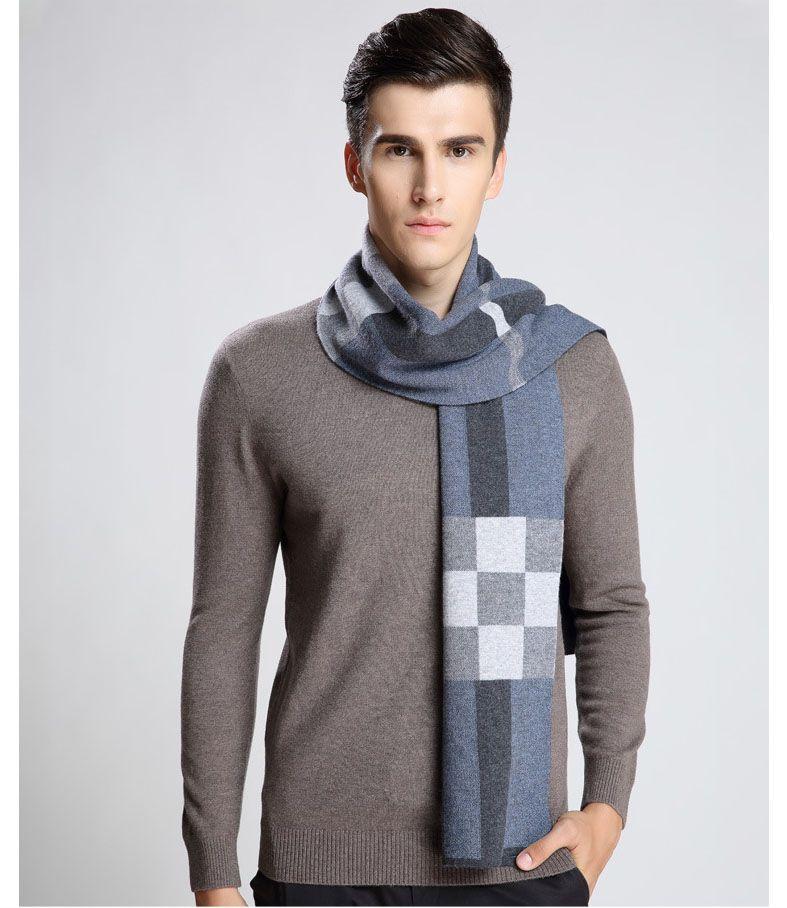 2017 Newest Design Brand Scarf Men Warm Luxury Scarves Echarpe Fashion Plaid Wool Scarf Man Wool Thick Warm Muffler Neckwarmer Male