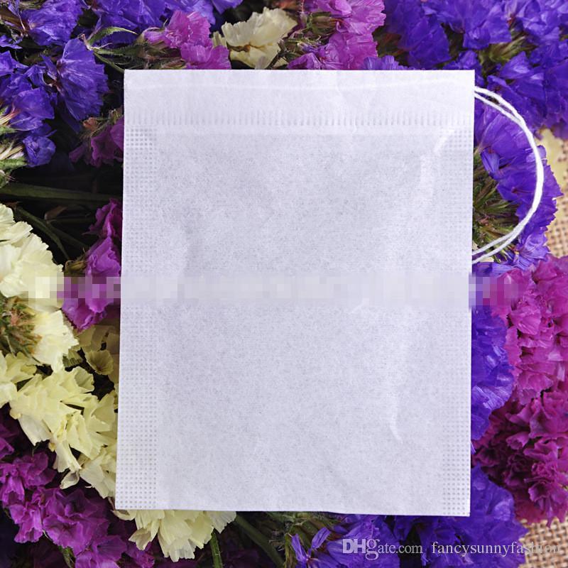 Vazio teabags food grade material feito filtro único cordão sacos de chá infusor de chá descartável 100 unidades / pacote preço barato por atacado 5 tamanhos