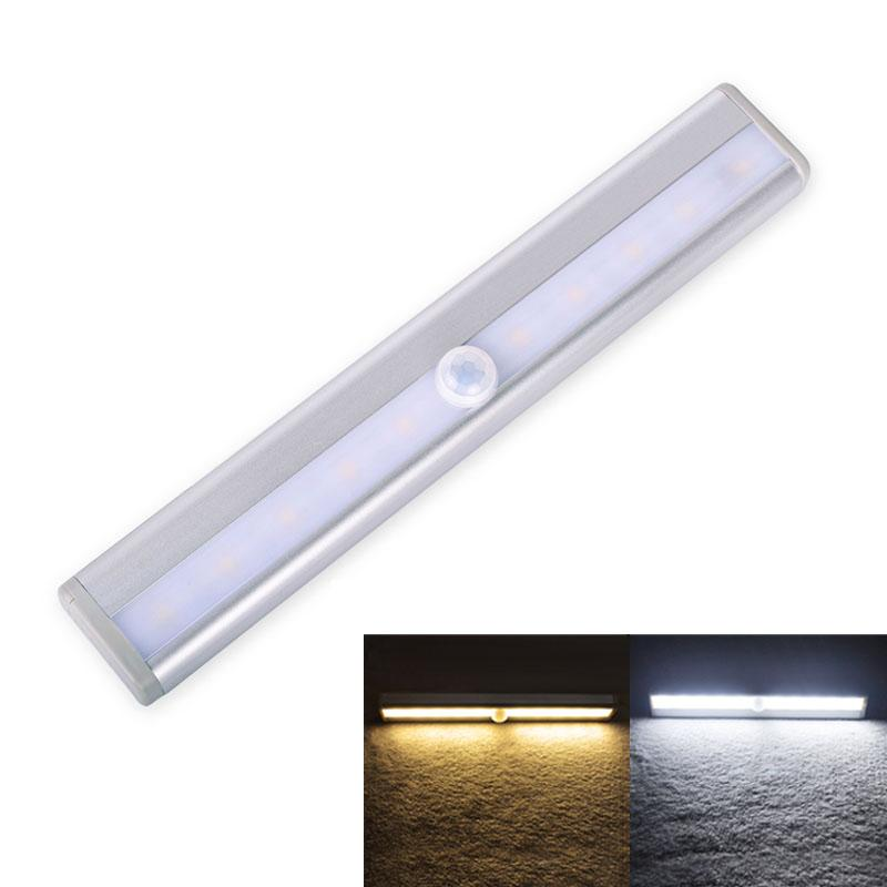 Motion Sensor Closet Lights, MOSTON 10 LED Wireless Under Cabinet Lighting  With Built In Rechargeable Battery, Stick On Anywhere Magnetic Ni UK 2019  From ...