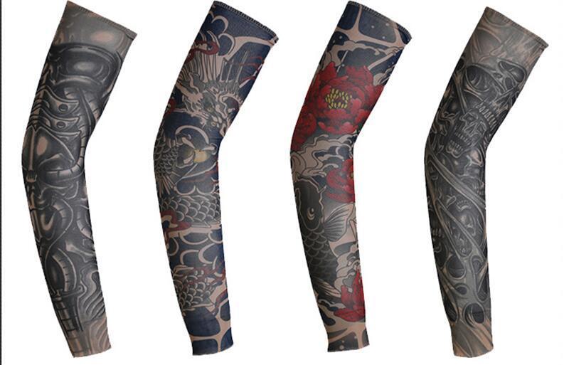 3d Stampa Tatuaggio Degli Uomini Nuovi In Bicicletta Sportswear Sport Outdoor Abbigliamento Accessori Uomo Corsa Della Bici Scaldini Del Braccio