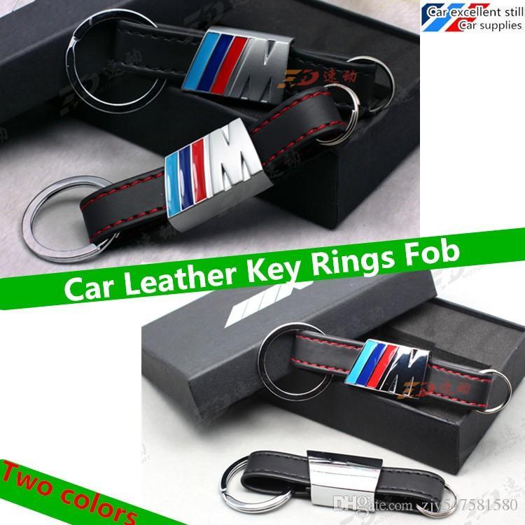2016 Car Leather Key Rings Fob Holder Car Logo Keychain For Bmw M1