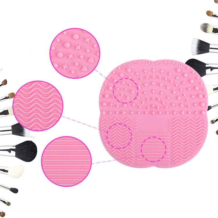 Silicone Makeup Brushes Cleaner Mat Pad Professional Washing Sucker Scrubber Board Washing Cosmetic Brush Cleaning Tools