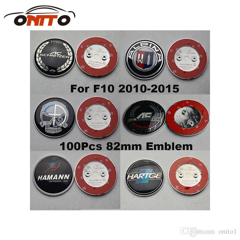 Recomend 82mm For F10 5-Series 2010-2015 Front Bonnet Emblem Cover Head Hood Logo Cap Rear Trunk Label Tail Boot Badge car styling