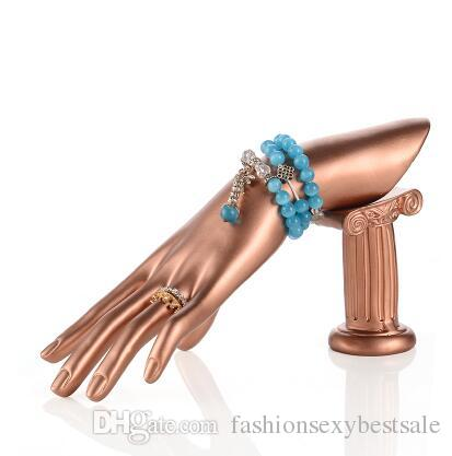 ! fashion 3 colour Ring display stand, jewelry window collection portrait model bracelet jewelry display Mannequin props B501