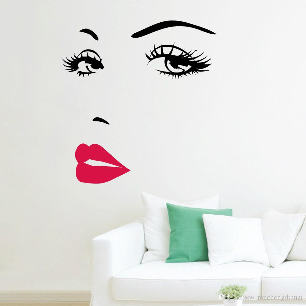 sexy red lips stickers living room bedroom background removable see larger image