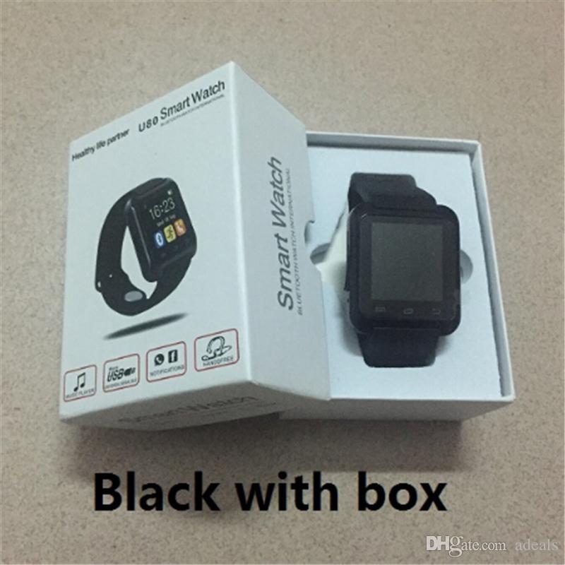 Smartwatch Bluetooth Smart Watch U80 pour iPhone Android IOS Téléphone Portable Horloge Dispositif Portable Smartwach PK U8 GT08 DZ09 Montres