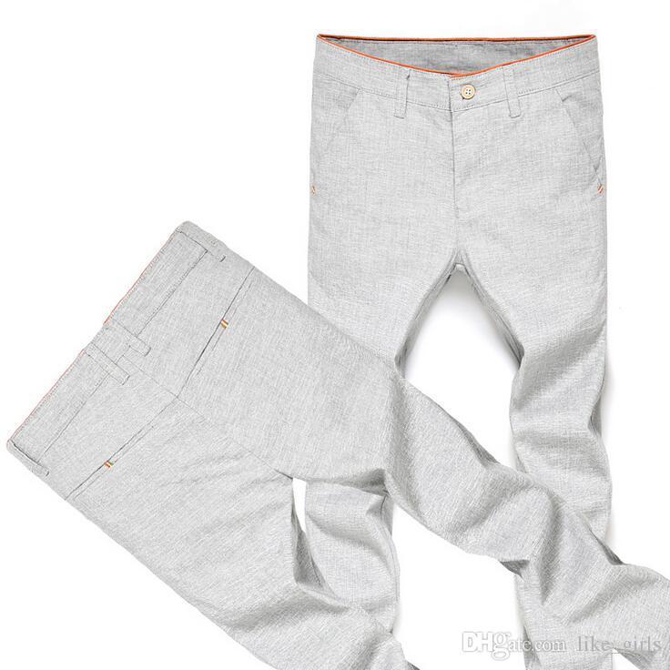 Nueva llegada sección de primavera y verano de nueve hombres casuales delgados jóvenes 9 puntos pantalones marea PM018 Pantalones de los hombres