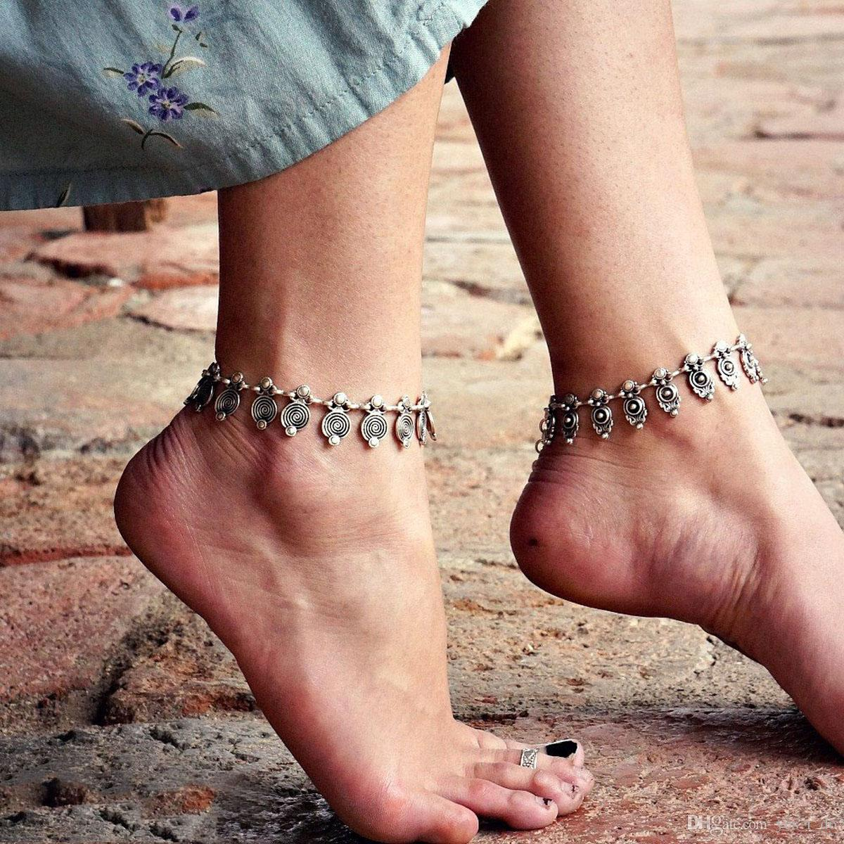 2018 Vintage Fashion Jewelry Anklet For Women Girls Spiral ...