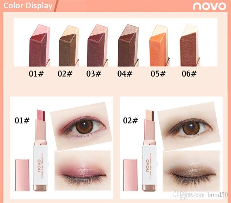 Novo Brand eyeshadow stick Women Shimmer Gradient Double Color Eyeshadow Stick Earth Color Cream Pen Cosmetics Eye Shadow DHL 5099