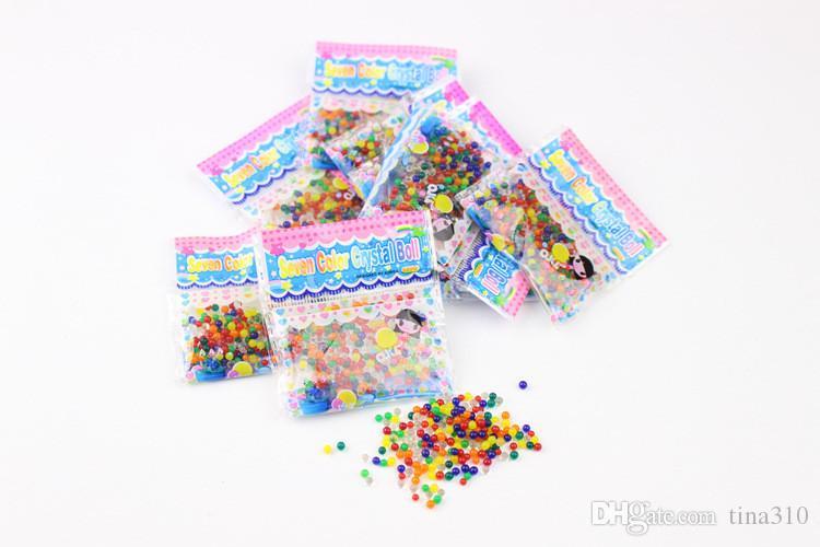 Nuevos perlas de cristal de puré de colores Granos de agua decoración de plantas Barro de cristal suministros decorativos para el hogar juguetes para niños IA751