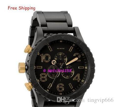 a0c13379f83 Compre Men s A083 1041 Relógios De Quartzo THE 51 30 CHRONO Matte Black +  Gold Dial Black Steel Strap CHRONOGRAPH Original Caixa A0831041 + Caixa  Original ...