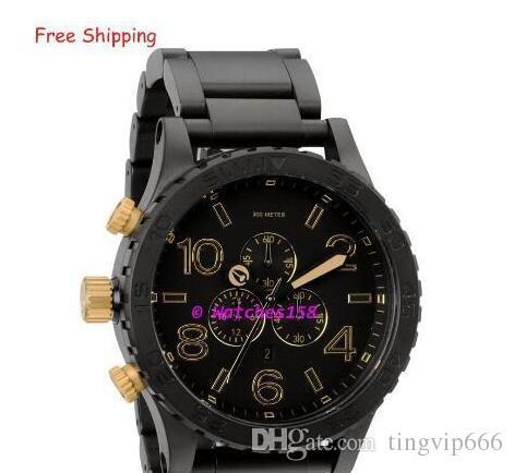 4c24bca4a70 Compre Men s A083 1041 Relógios De Quartzo THE 51 30 CHRONO Matte Black +  Gold Dial Black Steel Strap CHRONOGRAPH Original Caixa A0831041 + Caixa  Original ...