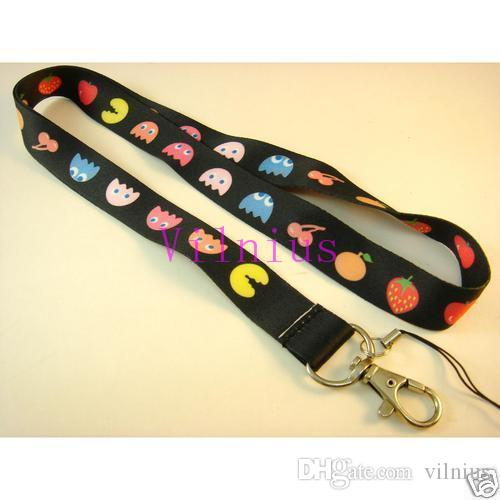 Hot SALE! NEW Pacman Fruity Game Neck Lanyard Strap Cell Mobile Phone ID Card Key chain