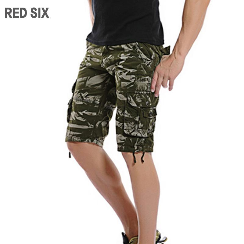 Wholesale RED SIX New Summer Camouflage Shorts Men Casual Mens Cargo Shorts  Work Trousers Many Pocket Decorate Plus Size 29 40 L185 UK 2019 From  Burtom e184c52ac3d