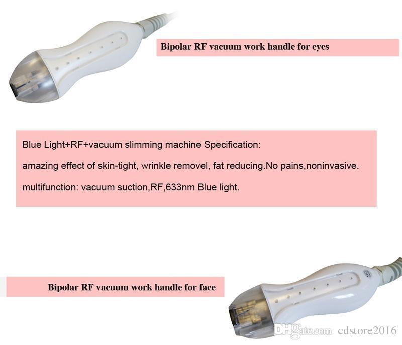 Newest!!!RF portable spa beauty machine Slimming Machine Blue Light Anti-wrinkle mesotherapy Vacuum