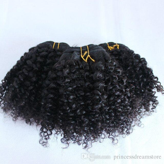 Best Brazilian Human Hair Weaves Bundles Unprocessed Brazillian Indian Malaysian Kinky straight Hair Extensions Natural Black