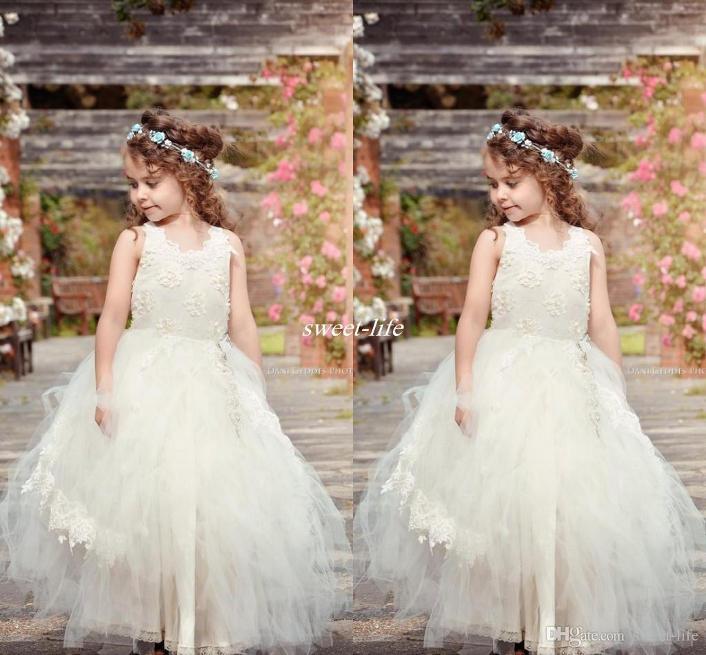 Cheap country beach wedding flower girl dresses putty tutu crew neck cheap country beach wedding flower girl dresses putty tutu crew neck applique lace sash floor length 2017 cheap baby holy communion dresses girls shoes izmirmasajfo Images
