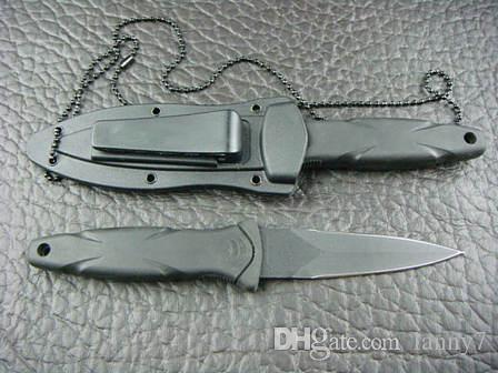 Sonderangebote SW HRT DoppelkanteBlack Blade Boot Dolch Messer Mit ABS K-Mantel Outdoor-Camping-Utility-Favoriten-Messer