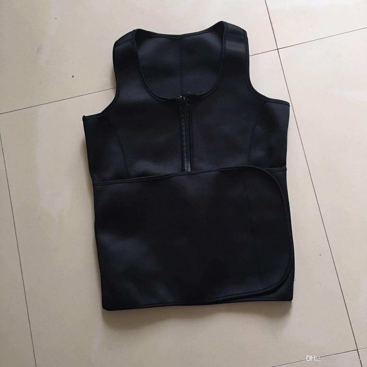 Néoprène Sauna Gilet Body Shaper amincissant taille formateur d'été Forme d'entraînement porter Corset Ceinture réglable