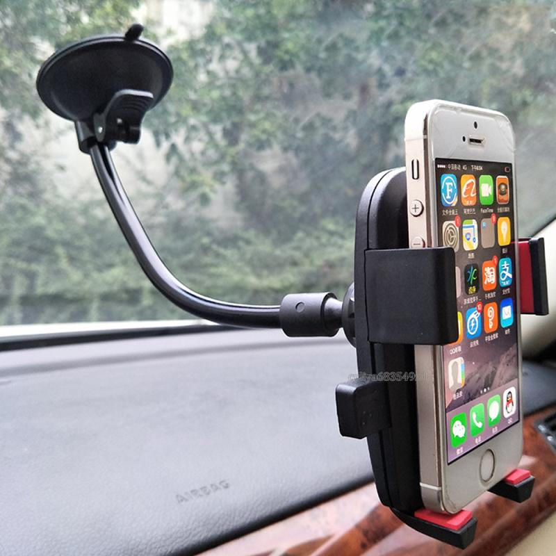 For Cell Phone Universal Car Holder For Smartphone Samsvng GPS Camera 360 degree Rotation Cell phone Mounts Holder With Retail Box