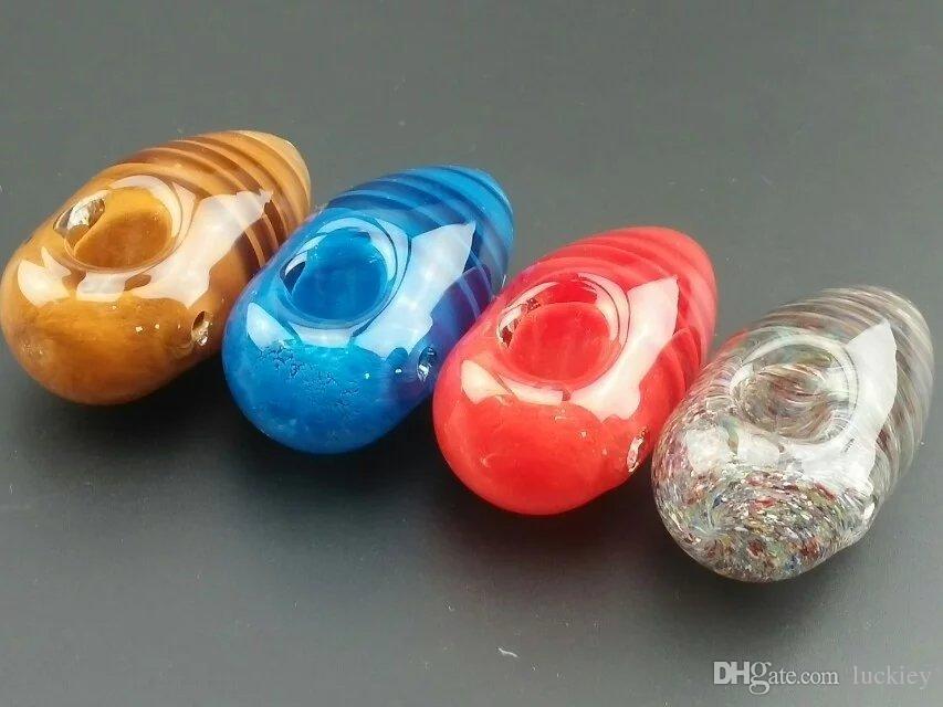 2017 Nuevo Llega Colorido Tubo de Tabaco 67g Tubos de Vidrio para Fumar Tubos de Agua de Vidrio Burbuja de Vidrio Para Tubos de Fumar Mezcla los colores para el envío gratis