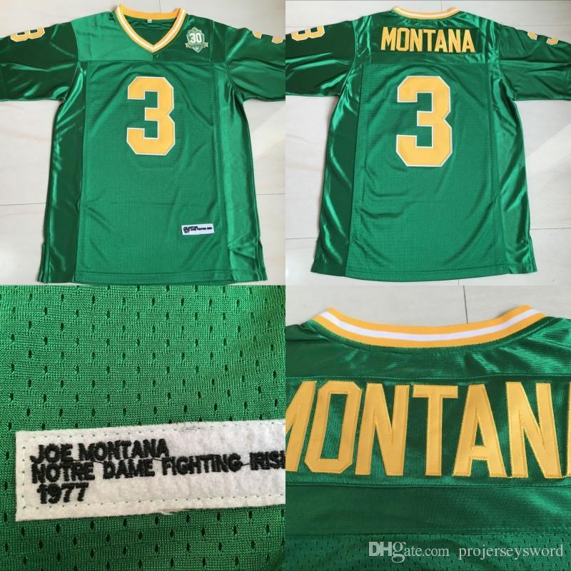 b591b9e124a Mens #3 Joe Montana Jerseys Notre Dame Fighting Irish Joe Montana ...