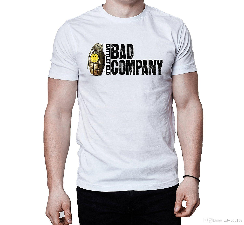 Casual Men'S Bad Company Logo T Shirt 2017 New High Quality 100 ...