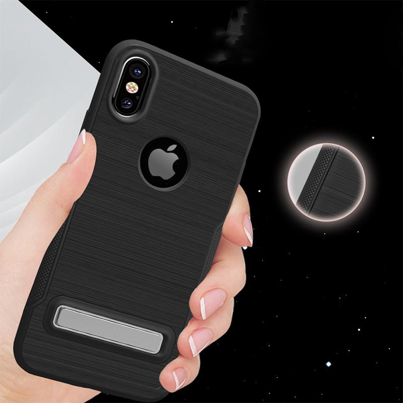 Armor Drawing Case with Stand Defender Hybrid PC TPU Non-slip Phone Case Cover for iPhone X 8 7 6 6s Plus DHL SCA352